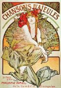 "Vintage Art Deco Poster ""Chansons D'Aïeules"" with Madame Amel"